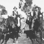 Percy Harris and Noel Sephton setting off on droving trip to mountains
