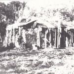 Spencers first hut 1936 near Blue Water Hole built of sods